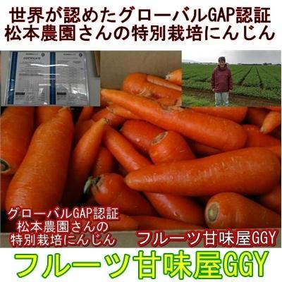 安心安全 特別栽培農産物 世界が認めたグローバルGAP認証 松本農園さんの特別栽培にんじん 訳あり 1箱約10kg(9kg+保証分500g)無農薬 有機栽培