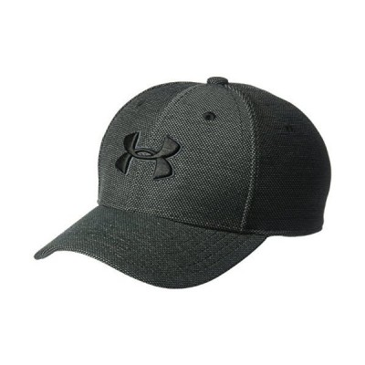Under Armour Boys' Heathered Blitzing 3.0 Cap, Black (001)/Black, Youth Small/Medium