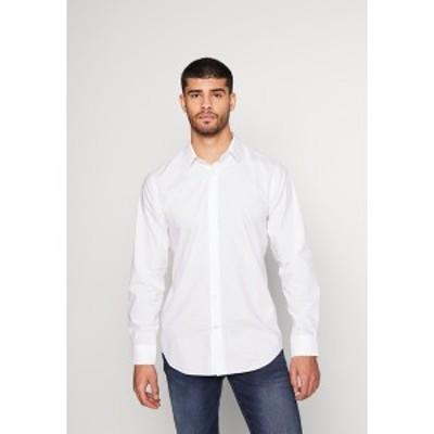バナナ リバブリック メンズ シャツ トップス MICRO DOT PRINT - Shirt - white/blue white/blue