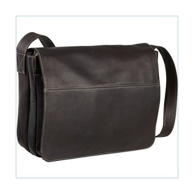 """Le Donne Leather Full Flap 15-Inch Padded Laptop Messenger Bag-Full Grain Colombian Vaquetta Leather, 14.5"""" x 10"""" x 2"""" (Cafe)並行輸入品"""