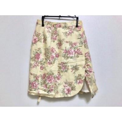 ハムステッド Hampstead 巻きスカート サイズ11 M レディース アイボリー×マルチ 花柄【中古】