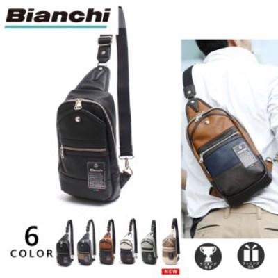 [公式] ビアンキ ボディバッグ Bianchi ワンショルダーバッグ メンズ レディース PU レザー 革 ブラック 他全6色 TBPI-02 [一部カラー先