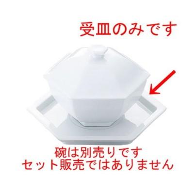 中華食器 厨房用品 / 白磁 六角受皿 寸法: 167 x 167 x H23mm