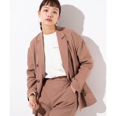 ジャケット テーラードジャケット WEGO/【セットアップ対応商品】リネンブレンドテーラードジャケット