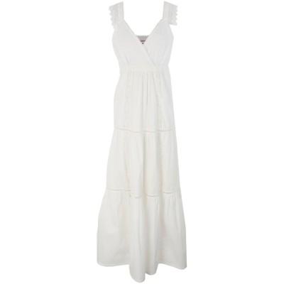 セミクチュール SEMICOUTURE ロングワンピース&ドレス ホワイト 44 コットン ロングワンピース&ドレス