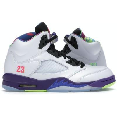 ジョーダン レトロ5 メンズ Jordan Retro 5 スニーカー White/Ghost Green/Court Purple