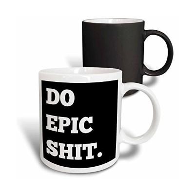 3dRose Do Epic Shit, Letters Background Mug, 11 oz, Black/White【並行輸入品】