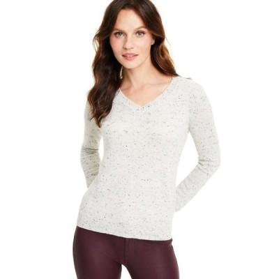 チャータークラブ レディース ニット・セーター アウター Donegal V-Neck Cashmere Sweater