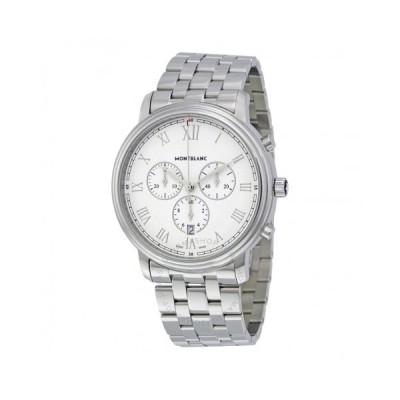 Montblanc/モンブラン メンズ 腕時計 Tradition クロノグラフ White Dial メンズ Watch 114340
