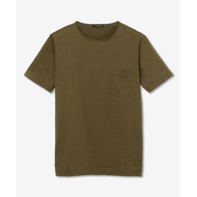 MACKINTOSH LONDON(MENS)/マッキントッシュ ロンドン  メンズ ハイゲージ天竺ポケットTシャツ グリーン5 LL