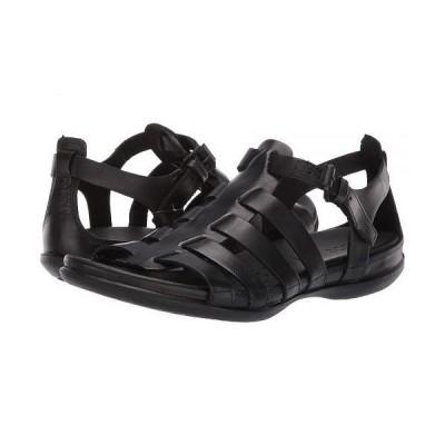 ECCO エコー レディース 女性用 シューズ 靴 サンダル Flash Strappy Sandal - Black Cow Nubuck