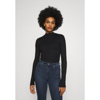リー レディース カットソー トップス HIGH NECK LONGSLEEVE - Long sleeved top - black black