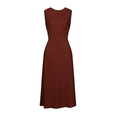 ロシャス ROCHAS 7分丈ワンピース・ドレス ブラウン 40 レーヨン 97% / ポリウレタン 3% 7分丈ワンピース・ドレス