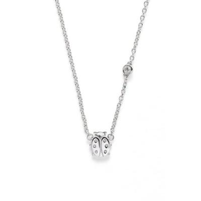 シャイバイシー レディース ネックレス・チョーカー・ペンダントトップ アクセサリー Rhodium Plated Sterling Silver Diamond Ladybug Necklace - 0.015 ctw -