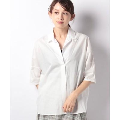 【アルアバイル】 スキッパービッグシャツ レディース ホワイト 02 allureville