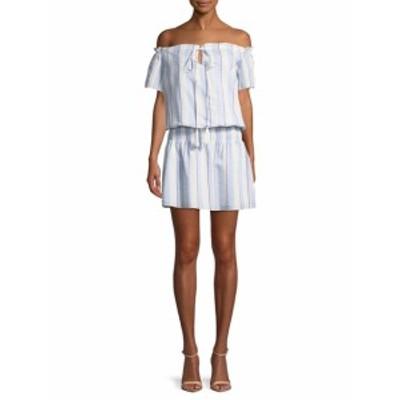 パーカー レディース ワンピース Off the Shoulder Smocked Waist Dress