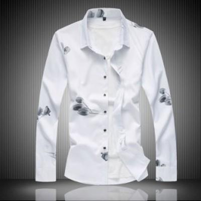 アロハシャツ メンズ 長袖シャツ カジュアル Tシャツ 男性 シャツ 薄手 サマー ビジネス 花柄 ハワイ 大きいサイズ 春夏 M~7XL