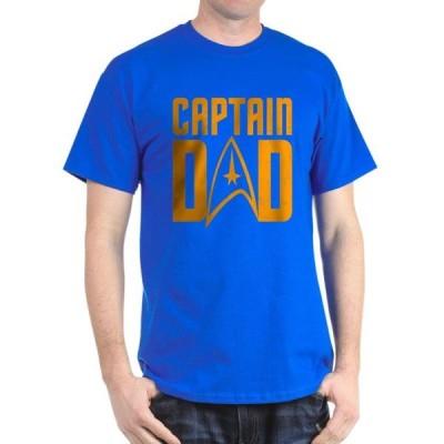 ユニセックス 衣類 トップス CafePress - Captain Dad Dark T Shirt - 100% Cotton T-Shirt Tシャツ