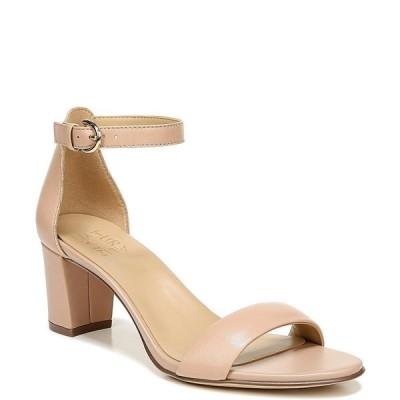 ナチュライザー レディース サンダル シューズ Vera Leather Ankle Strap Block Heel Dress Sandals Barley Nude