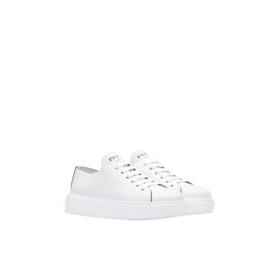 プラダ PRADA スニーカー シューズ 靴 ビアンコ ホワイト カットオフ カーフレザー