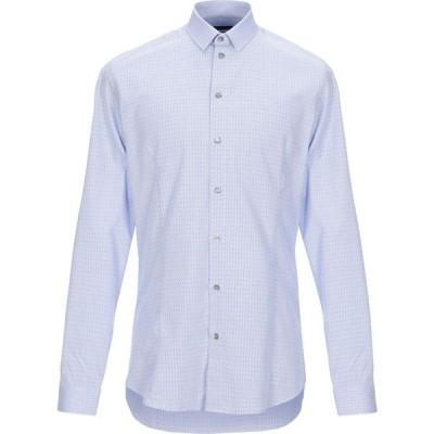 パトリツィア ペペ PATRIZIA PEPE メンズ シャツ トップス solid color shirt Azure