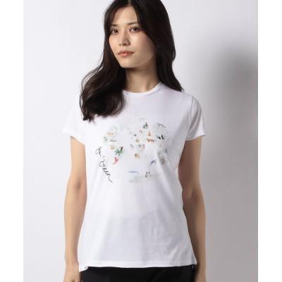 【キャラ・オ・クルス】 アニマルプリントTシャツ レディース オフホワイト 11 CARA O CRUZ