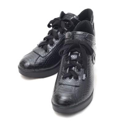ルコライン アウトレット スニーカー アージレ 靴 サイドファスナー付 パイソン型押し agile-034BK PYTHON 黒 ブラック マット 合皮 agil