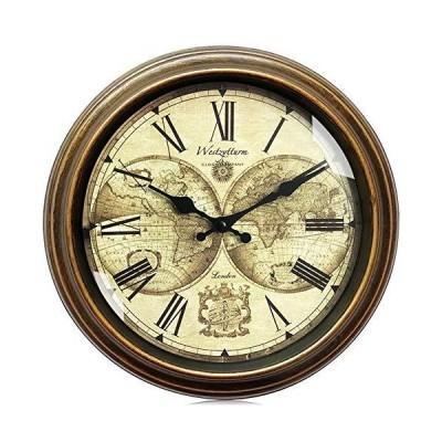 Westzytturm Wall Clocks Battery Operated 12 inch, Non-Ticking Silent, Rustic Farmhouse Decorative, Roman Numeral Big Face, Vintage Style Gol
