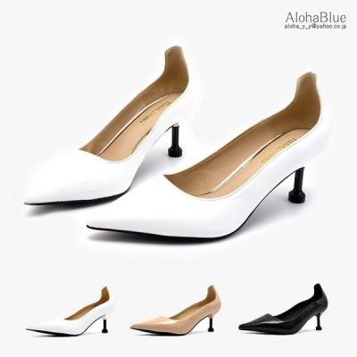 走れるパンプス ポインテッドトゥ パンプス ミドルヒール 6cm 低反発 痛くない 歩きやすい 靴 レディース 美脚