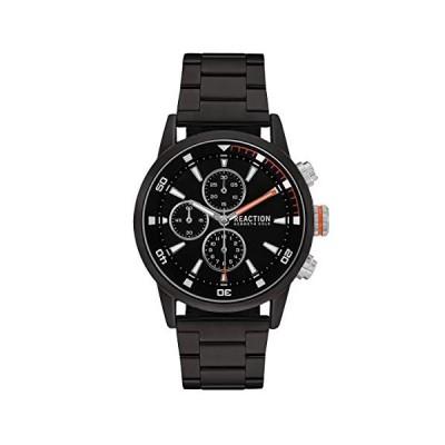 Kenneth Cole Reaction Mens Analog Black Dial, Round Case with a Blacktone Case, Black Base Metal Bracelet Watch. 並行輸入品