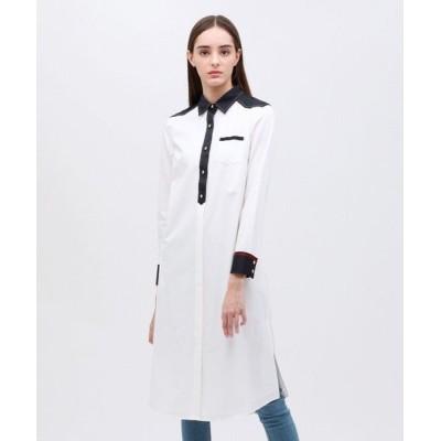 LOVELESS/ラブレス クレリック ロングシャツドレス オフホワイト 34