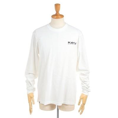 KAVU カブー メンズ ロングスリーブエッチアート バックプリントロゴ 長袖Tシャツ ロンT LS Etch Art 19810974