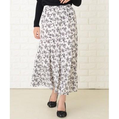 Lace Ladies / 小花柄 フラワープリント きれいめロングスカート WOMEN スカート > スカート