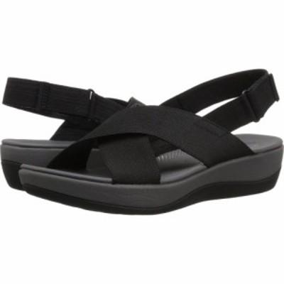 クラークス Clarks レディース サンダル・ミュール シューズ・靴 Arla Kaydin Black Elastic Fabric