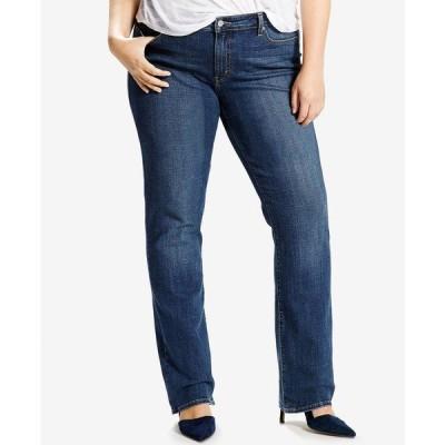 リーバイス デニムパンツ ボトムス レディース Trendy Plus Size Classic Straight-Leg Jeans Srt Soft Black