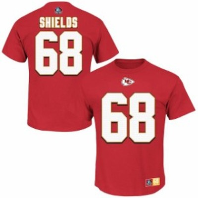 Majestic マジェスティック スポーツ用品  Majestic Will Shields Kansas City Chiefs Red Hall of Fame Eligible Receive