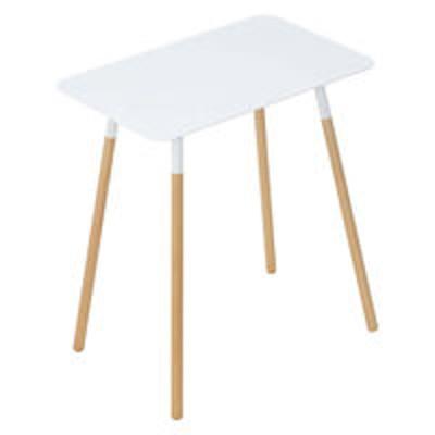 山崎実業プレーン サイドテーブル 角型 ホワイト 1個 山崎実業