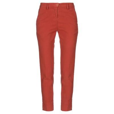 YUKO パンツ 赤茶色 40 コットン 98% / ポリウレタン 2% パンツ