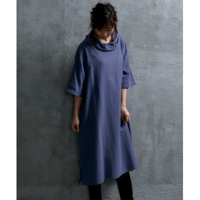 【ゆったりワンサイズ】カシュクールネックワンピース (ワンピース)Dress