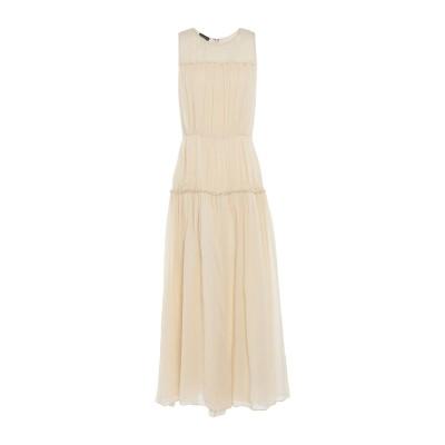 エンポリオ アルマーニ EMPORIO ARMANI ロングワンピース&ドレス ベージュ 46 シルク 100% ロングワンピース&ドレス