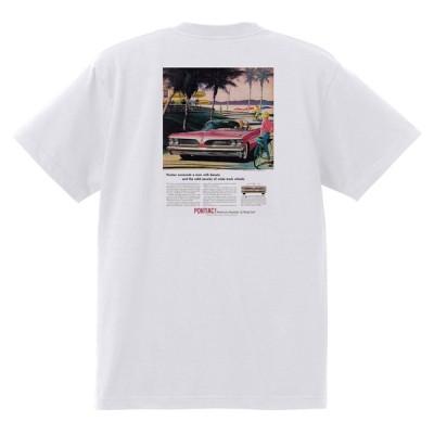 アドバタイジング ポンティアック 441 白 Tシャツ 黒地へ変更可能 1959 ボンネビル スターチーフ カタリナ ホットロッド ローライダー