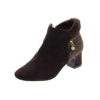 JELLY BEANS / バックファーショートブーツ(204-2598)JELLY BEANS(ジェリービーンズ) WOMEN シューズ > ブーツ