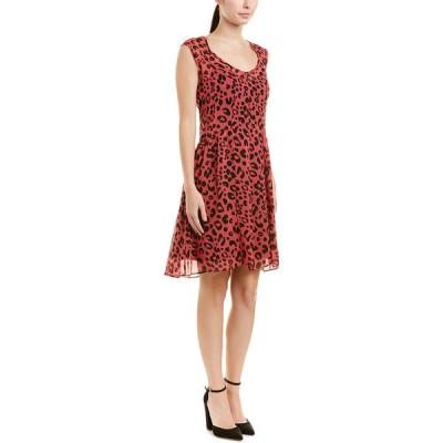 ナネットレポー ワンピース トップス レディース Nanette Lepore Outlaw Silk A-Line Dress black and red