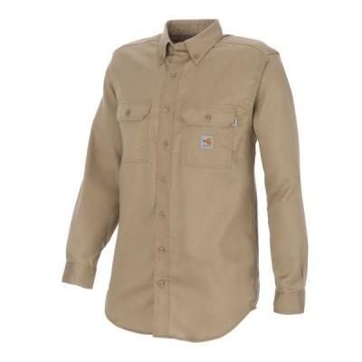 カーハート シャツ トップス メンズ Carhartt Men's Flame-Resistant Work-Dry Lightweight Twill Shirt Medium Beige