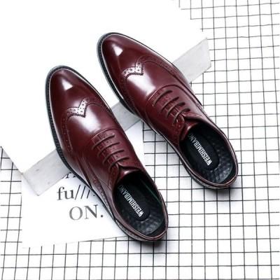 ビジネスシューズ メンズ 父の日 歩きやすい革靴 フォーマルシューズ  結婚式 日常 スリッポン 紳士靴 プレーントゥ メンズ靴 PU革靴