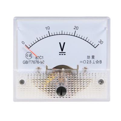 uxcell 電圧計 アナログパネル電圧ゲージ DC 0-30V 誤差マージン2.5% 85C1