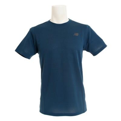 ニューバランスウェア スポーツインテンシティ S/S Tシャツ AMT81047NOS 半袖 グリーン