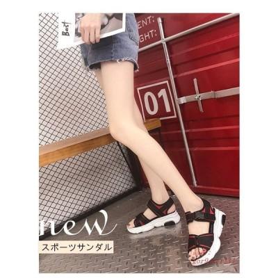 サンダルレディース スポーツサンダル 履きやすい 厚底サンダル 10代 20代 美脚 30代 夏サンダル 歩きやすい