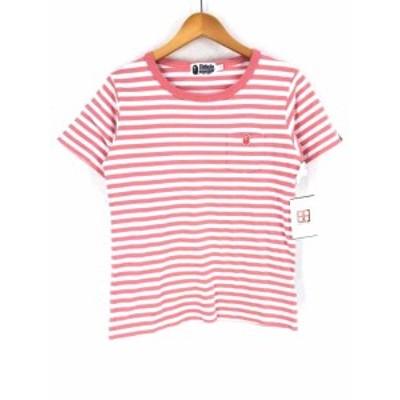 アベイシングエイプ A BATHING APE クルーネックTシャツ サイズJPN:S レディース 【中古】【ブランド古着バズストア】