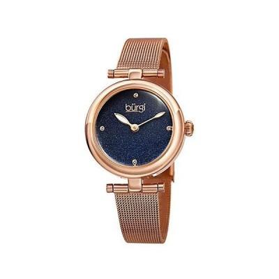 レディース アクセサリー 時計 Burgi Women's Stainless Steel Mesh Watch